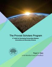 Provost Scholars Program Toolkit Cover