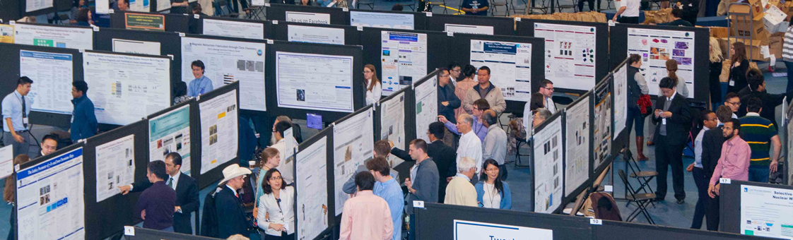 A group of students during the ShowCASE presenting their research