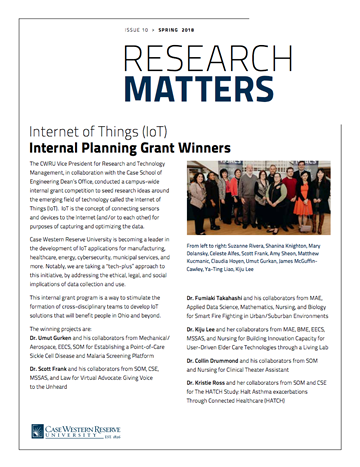Thumbnail of current Research Matters newsletter cover page
