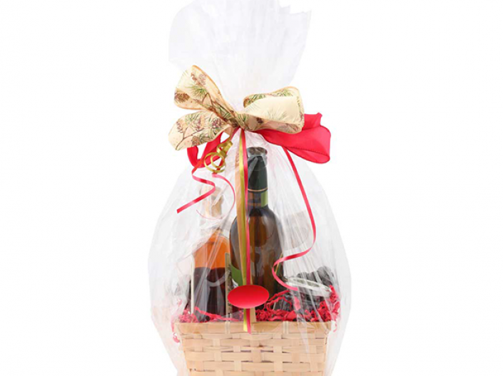 stock image of gift basket