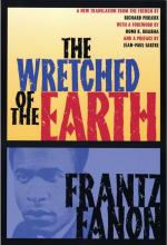 Photograph of book cover of The Wretched of the Earth