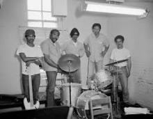 Photograph of prison band, circa 1975, from San Quentin Prison