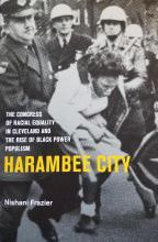"Photograph of book cover for ""Harambee City"" by Nishani Frazier"