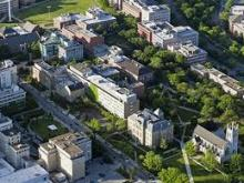 Aerial photograph of campus of Case Western Reserve University