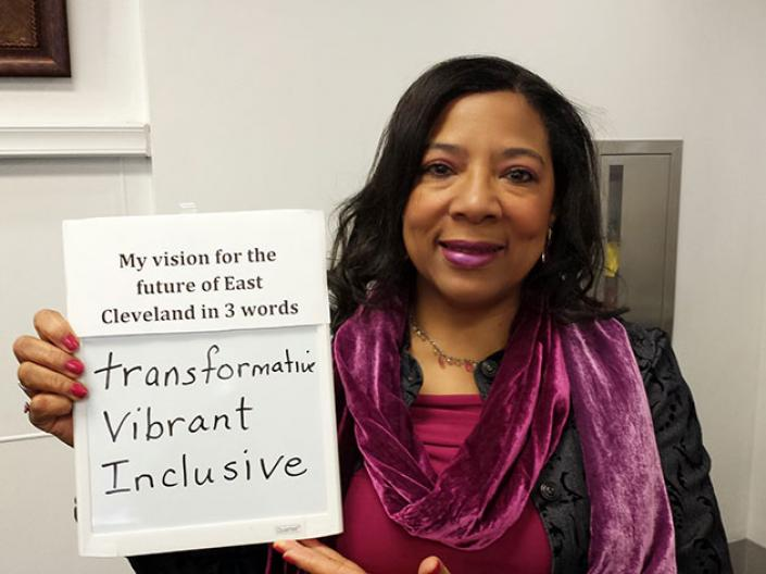 East Cleveland resident Michelle Hill; 3 words for East Cleveland's future: transformative, vibrant, inclusive
