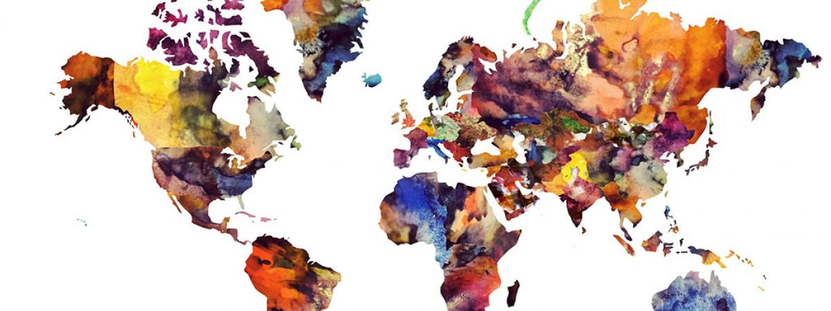 graphic of map of the world