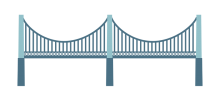 graphic of side view of bridge