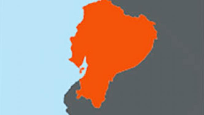 Image of map of Ecuador