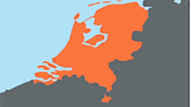 Image of map of Netherlands