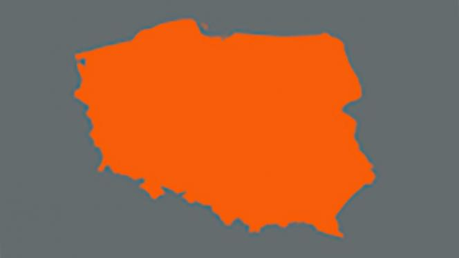 Image of map of Poland