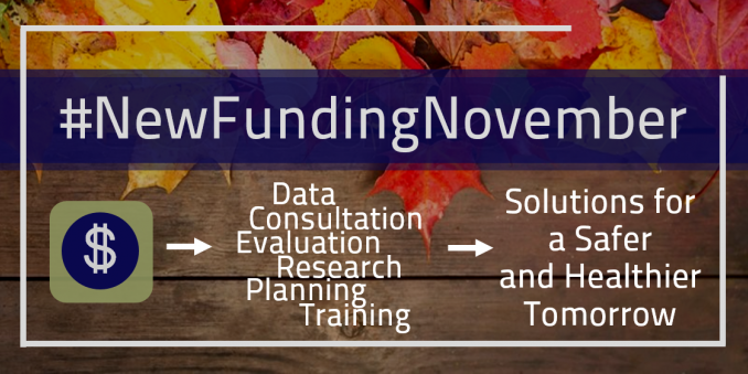 #NewFundingNovember; $ - Data Consultation Research Evaluation Planning Training - Solutions for a Safer and Healthier Tomorrow