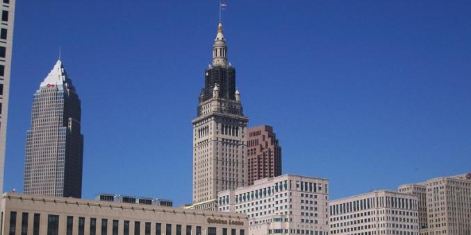 Photo showing downtown Cleveland