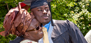 Graduate with his mom at Commencement