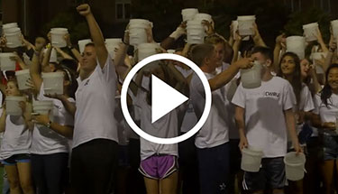 Class-wide ALS Ice Bucket Challenge  Our Class of 2018 took part in the ALS Ice Bucket Challenge en masse Monday night—and threw down the gauntlet to Carnegie Mellon University.