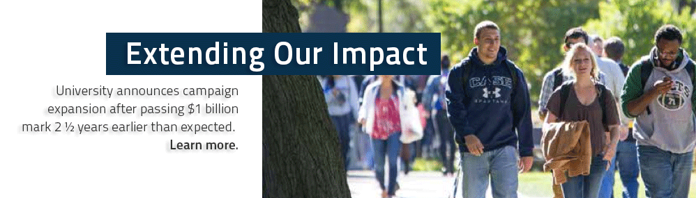 Extending Our Impact University announces campaign expansion to $1.5 billion after passing original. Learn more.