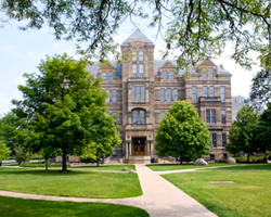 Adelbert Hall is home to Offices of the President, Provost and other university leadership