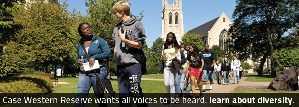 Case Western Reserve wants all voices to be heard. Learn about diversity.