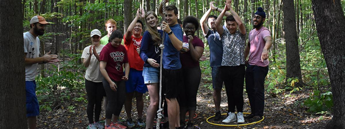Emerging Leaders program at a ropes course