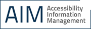 Accessibility Information Management Logo