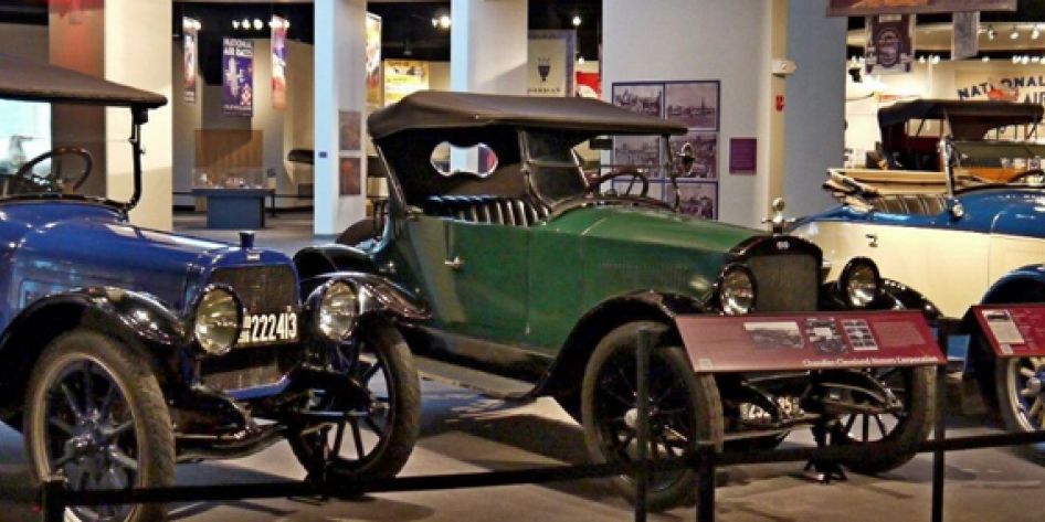 Cars at the Western Reserve Historical Society