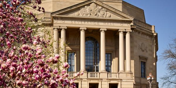Exterior view of Severance Hall in University Circle