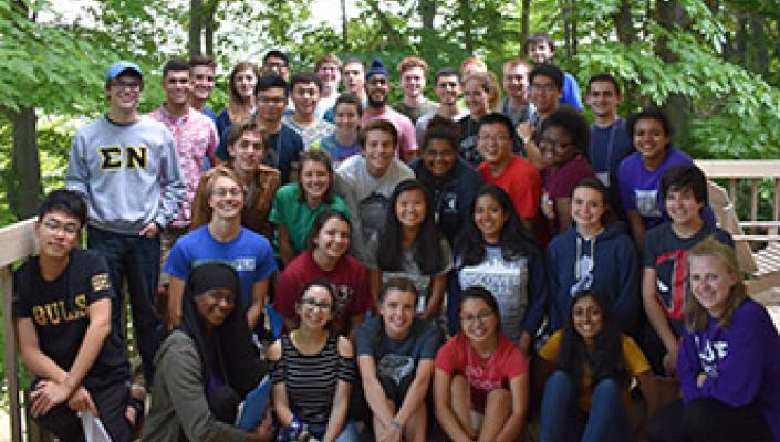 A group photo of CWRU Emerging Leaders program participants