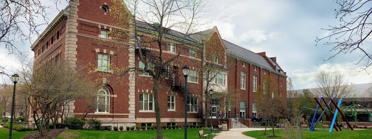 An exterior view of Thwing Center at Case Western Reserve University