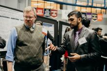 Student presents work at SOURCE fair at Case Western Reserve University