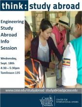 Engineering study abroad flyer