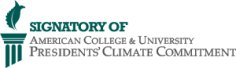 Signatory of American College & University Climate Commitment