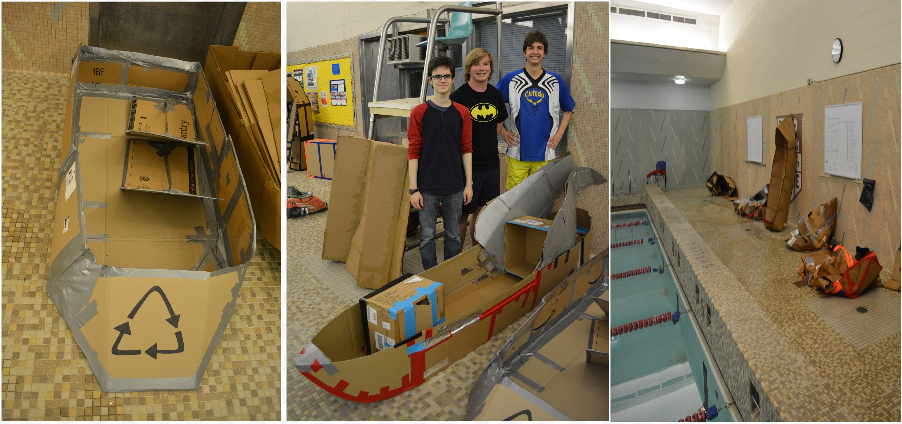 image of Regattas made from cardboard