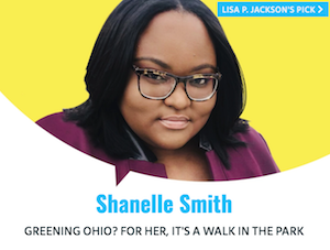 Shanelle Smith's photo with Grist 50 Fixers frame as used on Grist website.