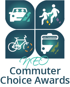 commuter choice awards logo with car, walkers, bike and bus