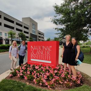 Sprint Team in front of National Cancer Institute Sign in DC