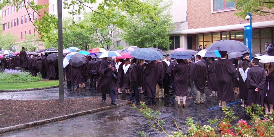Case Western Reserve University Commencement 2016 Groundbreaking Research graduating students outside