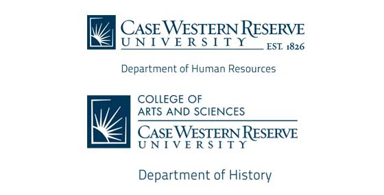 Case Western Reserve University human resources and history departmental logos