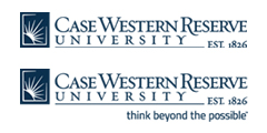 Case Western Reserve University logos with and without tagline