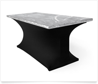 Aluminum top table