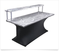 Aluminum bartop table