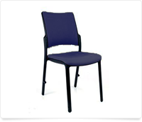 blue ballroom chair