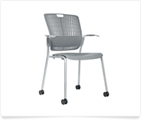 gray classroom rolling chair