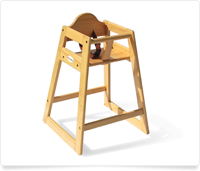 child's wooden highchair