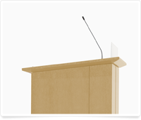 image of high tech wooden lectern