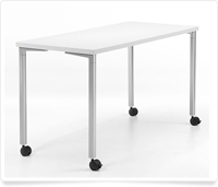 white classroom table