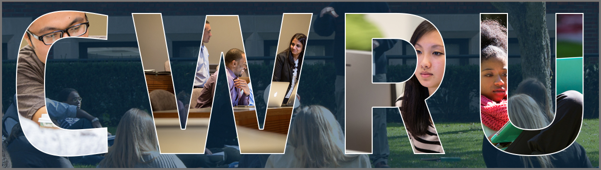 CWRU Photo mosaic banner with students on campus and in the classroom