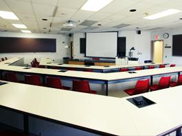 AW Smith 329 Classroom, empty room for TEC display, alternate view