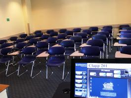 Clapp CLassroom empty for TEC Display