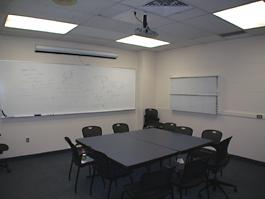 School of Medicine empty room for TEC display