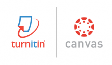 Turnitin with Canvas Logo